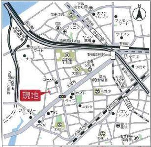 【地図】大阪市福島区大開3丁目1-45付近 A号地