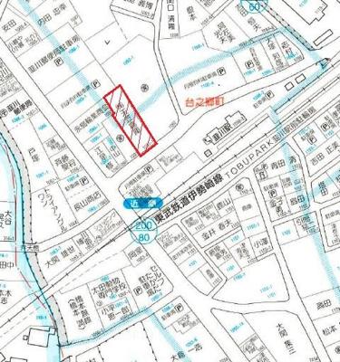 【地図】台之郷町貸地