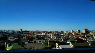 名古屋のビル群まで見渡せる眺望