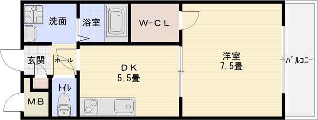 アンプルールフェールリアライフ 道明寺駅 河内国分駅 1DK ウォークインクローゼット