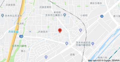 【地図】ニシジマハイツ