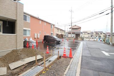 【駐車場】上野町アパートA棟