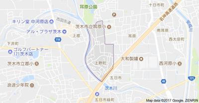 【地図】上野町アパートC棟