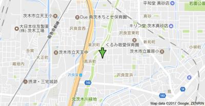 【地図】エバグリーン スモッティー阪急茨木店