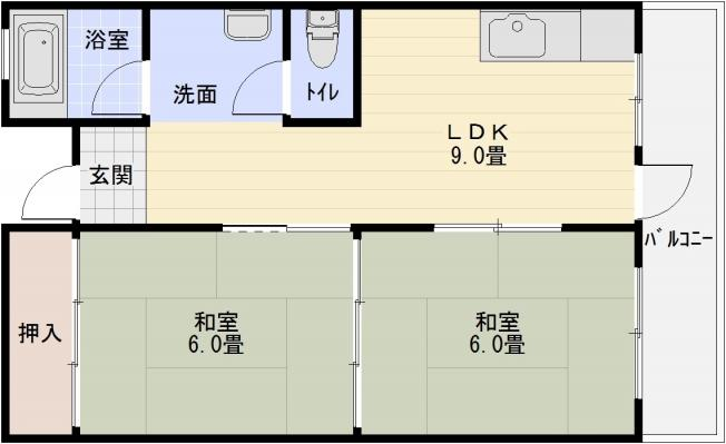 メゾン柏原 2LDK 柏原駅 安堂駅 堅下駅
