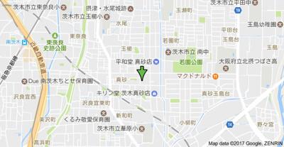 【地図】もりかずマンション南茨木