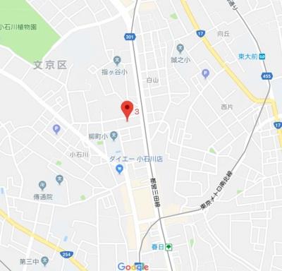 【地図】ランドレジデンス小石川