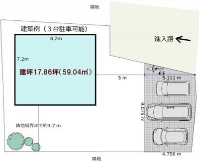 【参考プラン】山北分譲地 66坪(C号地)
