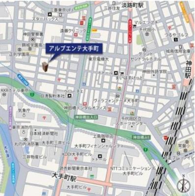 【地図】アルプエンテ大手町