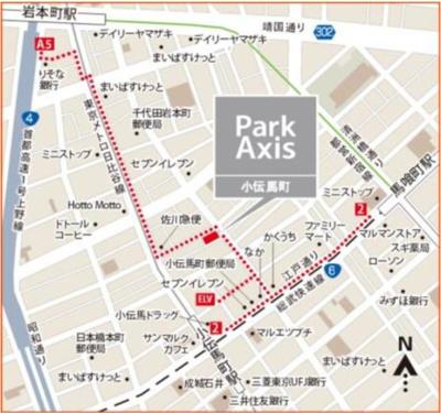 【地図】パークアクシス小伝馬町