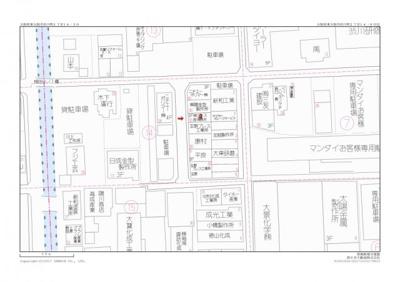 【地図】東大阪市渋川町2丁目 中古戸建 作業場付