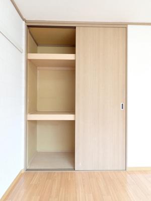 南向き洋室6帖のお部屋にある収納スペースです!奥行きのある収納スペースで荷物の多い方も安心◎