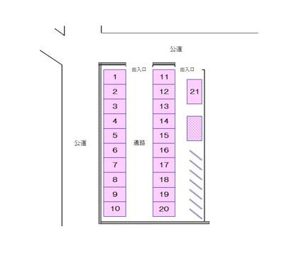 【区画図】古川駐車場(バイク)