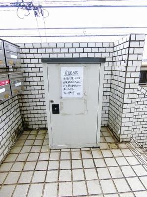 防犯対策に有効なオートロック付きの共用玄関です☆1人暮らしの方も安心ですね!