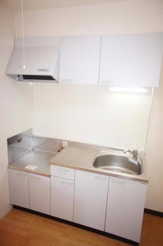 2口ガスコンロ設置可のきれいなキッチンです。