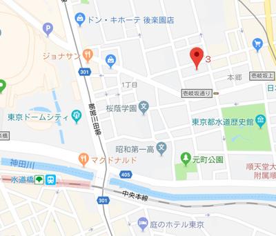 【地図】ラフィーネ本郷