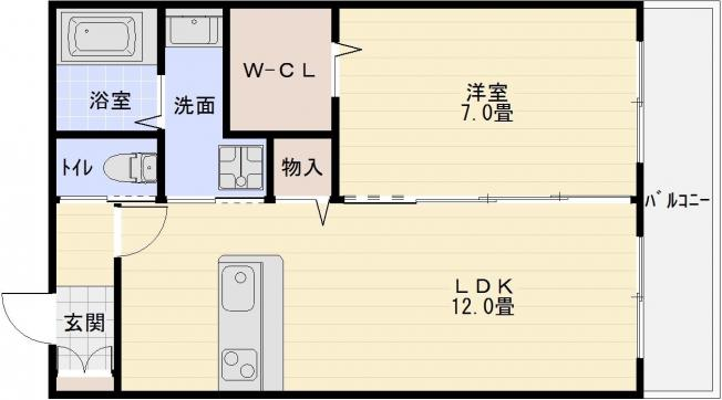 メゾンメルヴェイユ(堅下駅・JR柏原駅) 1LDK