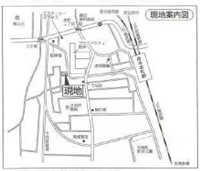 【地図】府中本町徒歩3分 売地