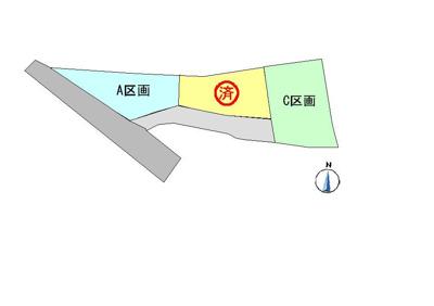【区画図】スマイルタウン上片桐C