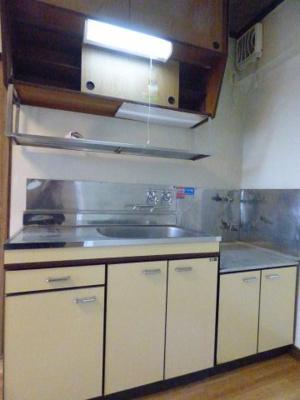 2口ガスコンロ設置可のキッチンです