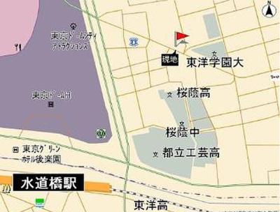 【地図】ベルファース本郷弓町