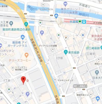 【地図】トーアホワイトハイツ