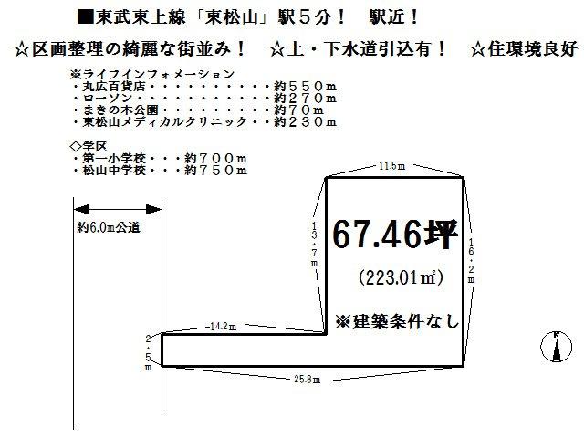 【土地図】東松山市箭弓町3丁目 売地