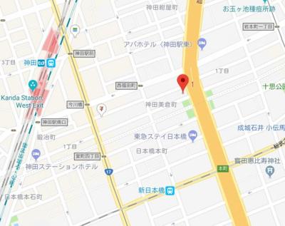 【地図】T&G神田マンション