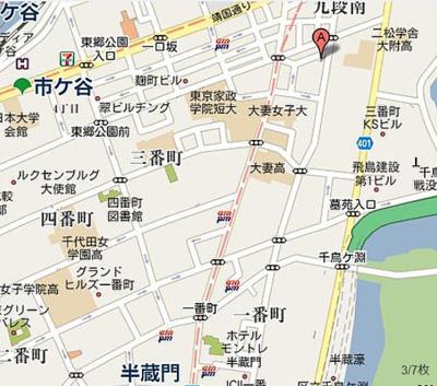 【地図】グラン三番町