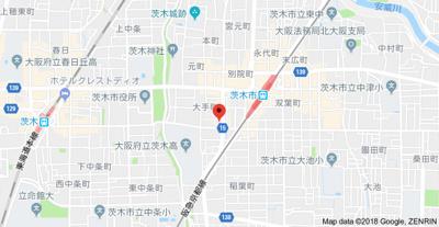 【地図】ツーモア茨木