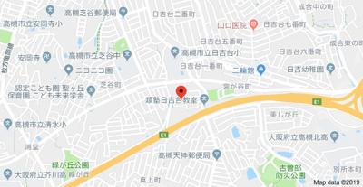 【地図】藤和コアティ高槻ハイタウンC号棟