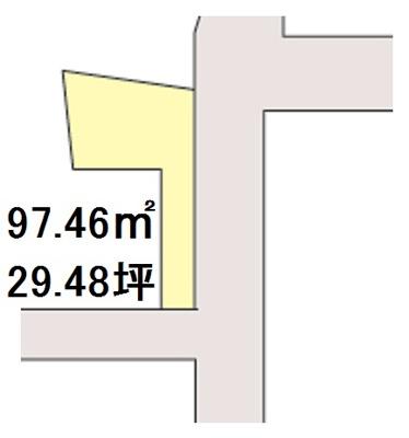 【区画図】【売地】楠見中学校区・120313