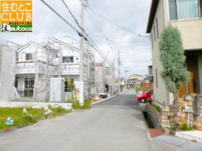 【前面道路含む現地写真】明石市魚住町住吉 クレイドルガーデン 新築戸建