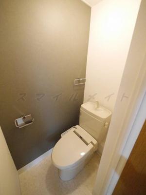 冬場も温かい温水洗浄便座のトイレです。