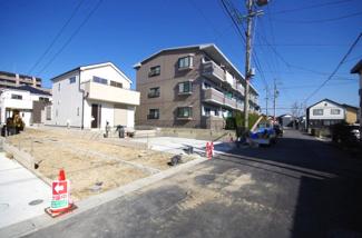 3号棟 前面道路含む現地(2018年01月)撮影