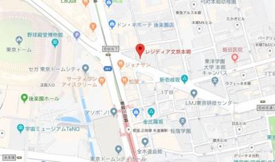 【地図】レジディア文京本郷Ⅳ