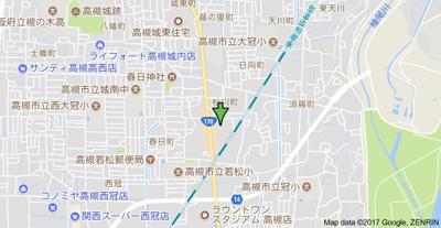 【地図】ウエストハイツP1 株式会社Roots