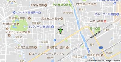 【地図】T'Sコート(ティーズコート) スモッティー阪急高槻店