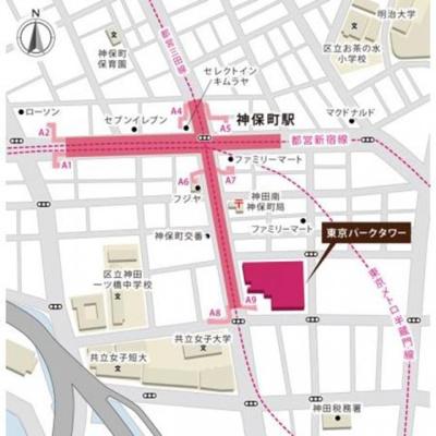 【地図】東京パークタワー