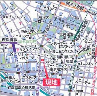 【地図】アーデン神保町