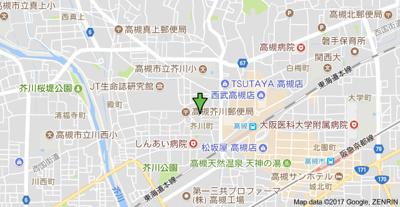 【地図】ダイコウレストハウス芥川 (株)Roots