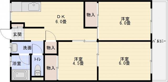 小松マンション(柏原市法善寺) 3DK