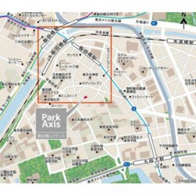 【地図】パークアクシス飯田橋レジデンス