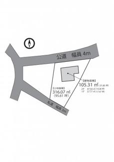 【区画図】南房総市千倉町瀬戸 中古戸建