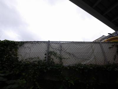 テラスからの眺望・南向きです。