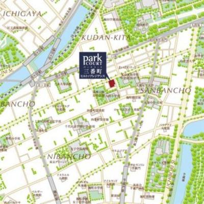 【地図】パークコート三番町ヒルトップレジデンス
