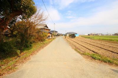 【前面道路含む現地写真】筑後市大字常用 土地