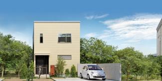 グランファミーロおゆみ野中央Ⅱ 新築一戸建て 鎌取駅 シンプルモダンの外観は、ジブンらしさを主張することができる素敵な住宅です。 モデルハウスも用意していますのぜひ一度ご見学下さい。