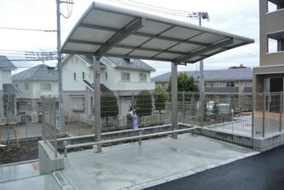 屋根付き駐輪場があるので大切な自転車を濡らさずに駐輪できます☆自転車があれば通勤・通学、お買い物にも便利ですよね~♪
