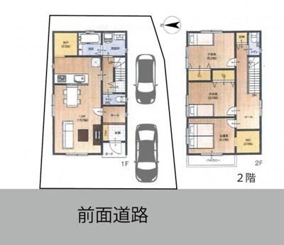 居宅プラン2、他にも様々な建築プランが可能です。